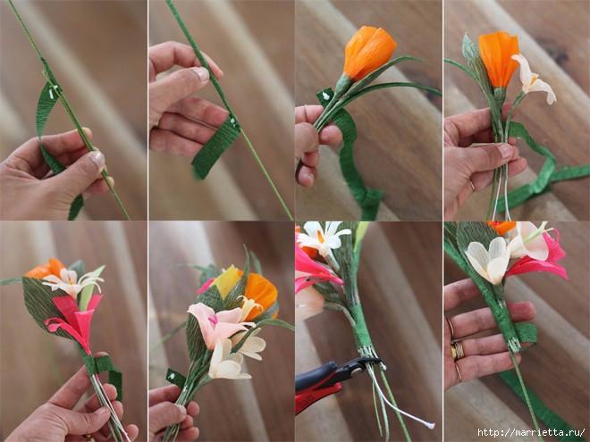 Как сделать не настоящие цветы 364