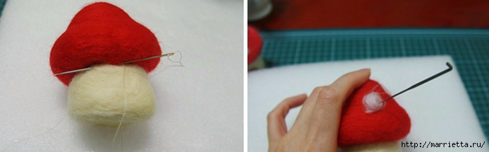 Сказочный домик МУХОМОР в технике валяние (6) (700x218, 88Kb)