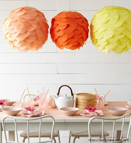 ceiling lamp decor of diy paper pom poms crafts - home decor diy paper ideas-f91499 (500x546, 139Kb)