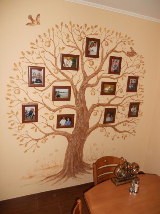 Дерево для фотографий своими руками фото