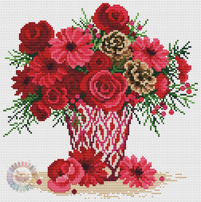 Festive-florals (694x700, 745Kb)