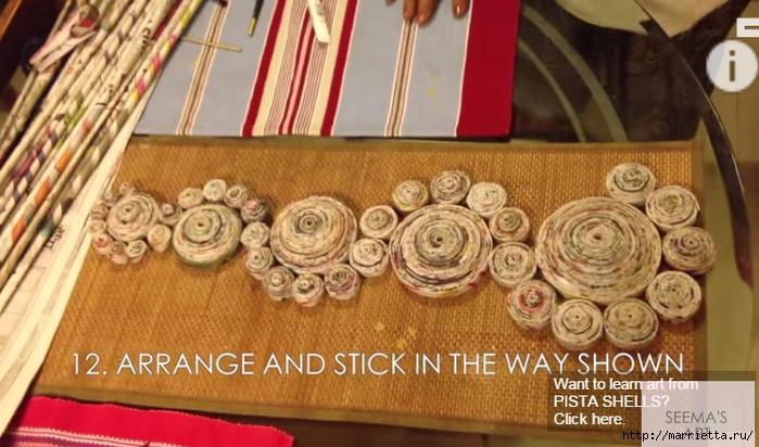 Интересный декор - панно из газетных трубочек (1) (700x412, 236Kb)