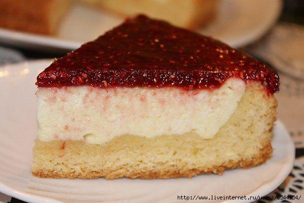 Пирог с творогом и малиной. (604x403, 112Kb)