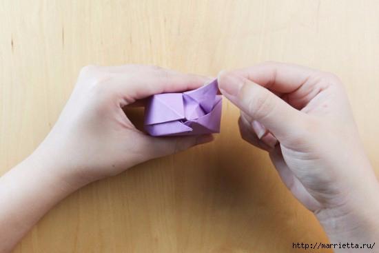 Как сложить тюльпаны в технике оригами (15) (550x367, 77Kb)