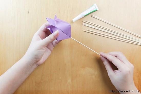 Как сложить тюльпаны в технике оригами (17) (550x367, 86Kb)