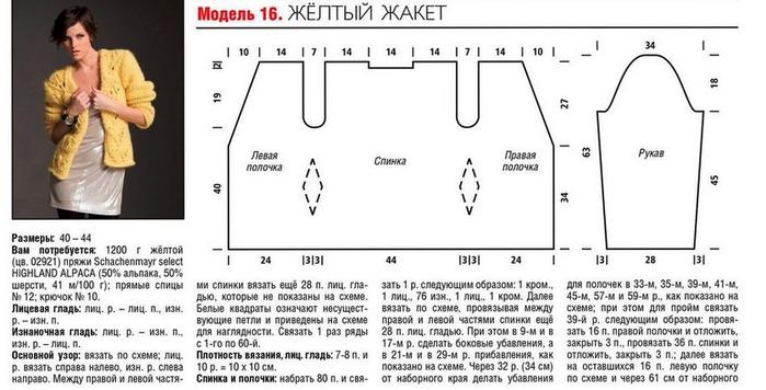 Схемы вязания кардиганов из толстой пряжи 79