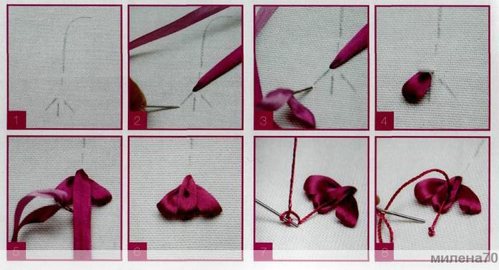 Схема узора для вышивки крестом легкие