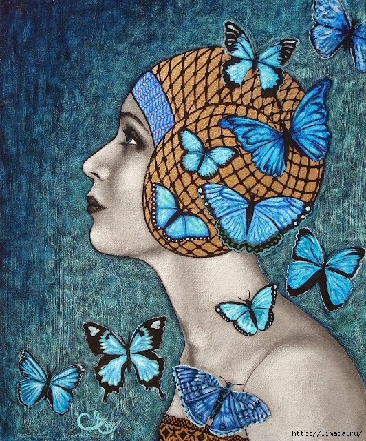 blue butterflies (532x640, 416Kb)