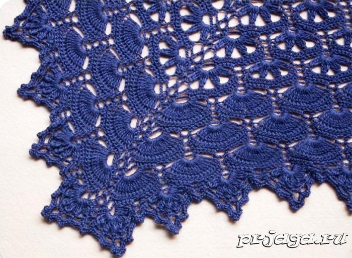 Схема ажурной шали