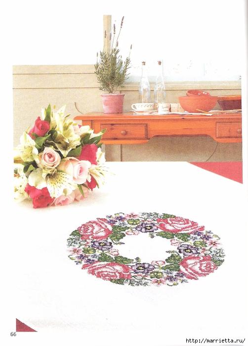 цветочная вышивка на скатерти. схемы (5) (502x700, 209Kb)