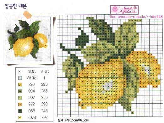 Часть 2 - Вышивка Лимоны