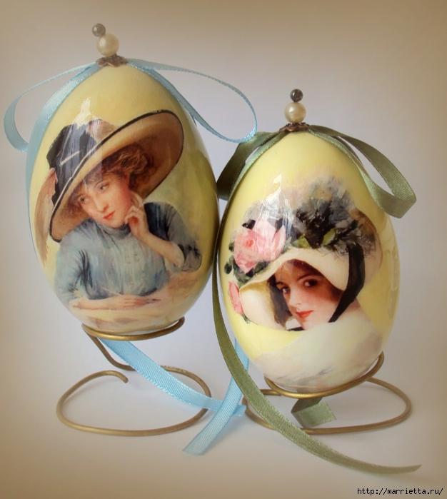 Дамы. Пасхальные яйца с декупажем (2) (626x700, 238Kb)