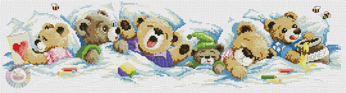 Sleepy Bears (700x189, 215Kb)
