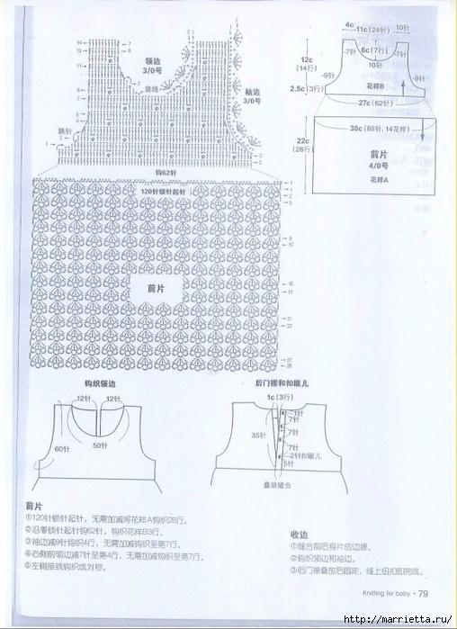 Сарафан крючком из меланжевой пряжи для девочки (4) (508x700, 255Kb)