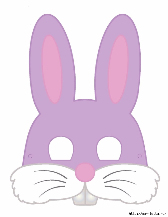 Маски кроликов для детского праздника (3) (540x700, 76Kb)