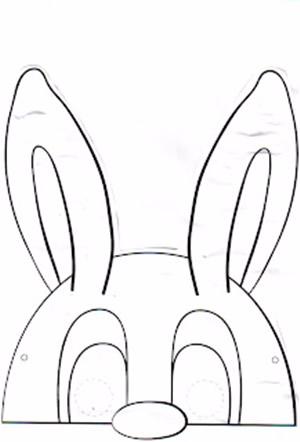 Маски кроликов для детского праздника (7) (300x442, 60Kb)