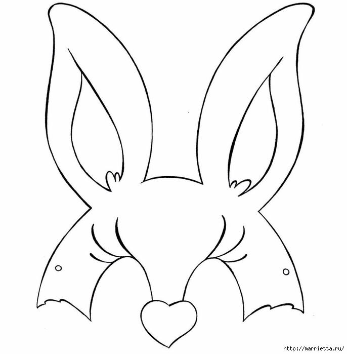 Маски кроликов для детского праздника (9) (686x700, 99Kb)
