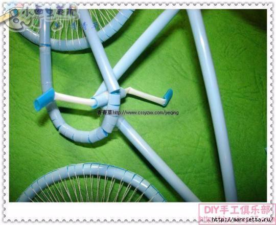 Велосипед из трубочек для коктейлей (38) (540x440, 134Kb)