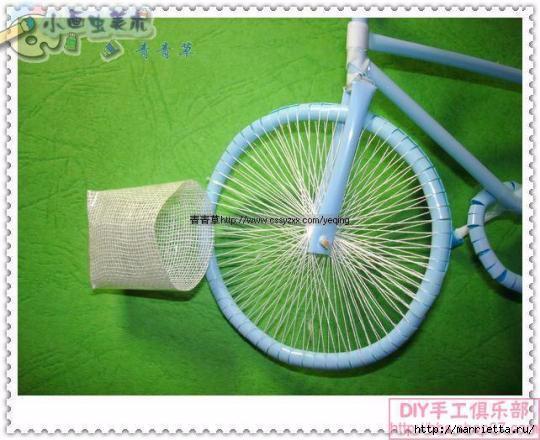 Велосипед из трубочек для коктейлей (42) (540x440, 142Kb)