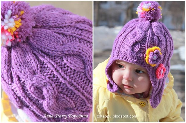 Вязание спицами страна мам детские шапочки