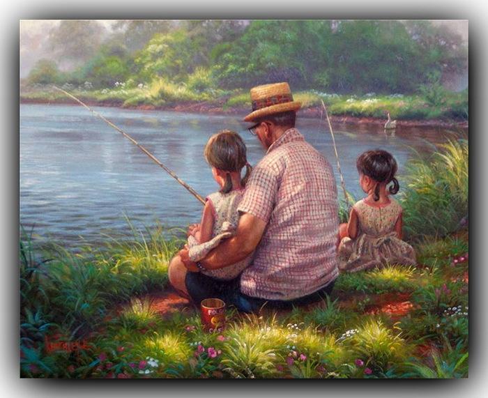 возвращаясь с рыбалки в деревню дед проезжал на санях