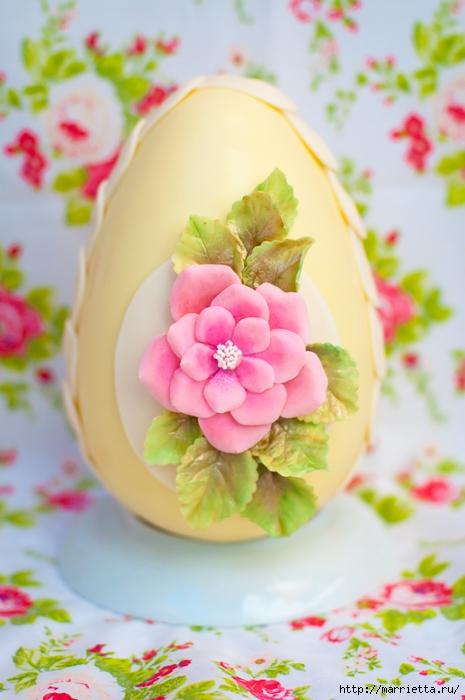 Сахарные розы для украшения шоколадных пасхальных яиц (18) (465x700, 214Kb)