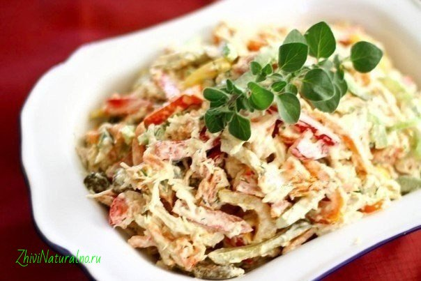 Салат с курицей и грибами (604x403, 51Kb)