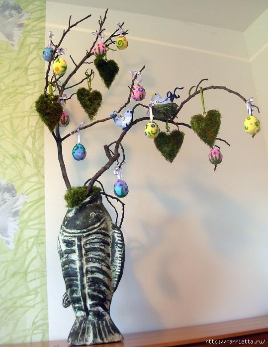 Сердечки из мха для декоративных пасхальных композиций (13) (539x700, 313Kb)