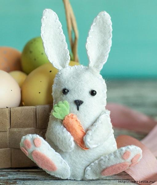 Пасхальный кролик из фетра (1) (511x602, 166Kb)