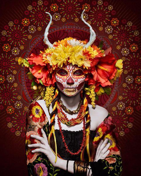 мексиканский праздник Las Muertas 1 (483x604, 476Kb)