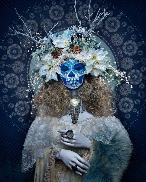 мексиканский праздник Las Muertas 3 (483x604, 334Kb)