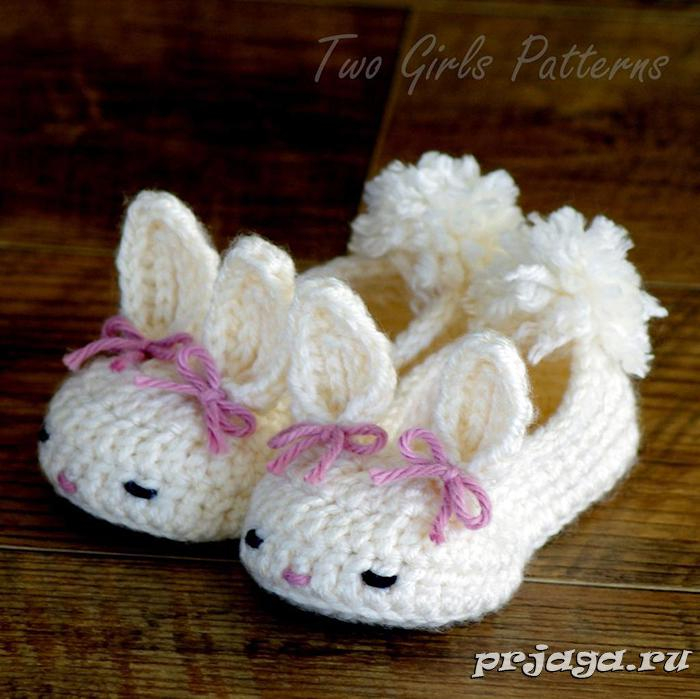 Тапочки для девочки вязание спицами 23