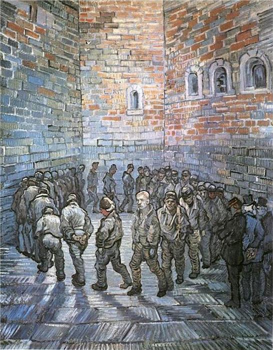Ван Гог_Прогулка заключенных (546x700, 494Kb)