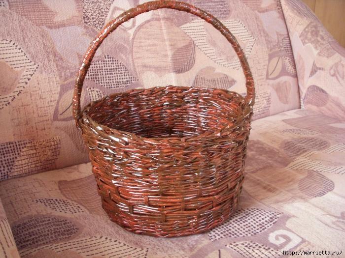 плетение корзинок из газетных трубочек (2) (700x525, 351Kb)