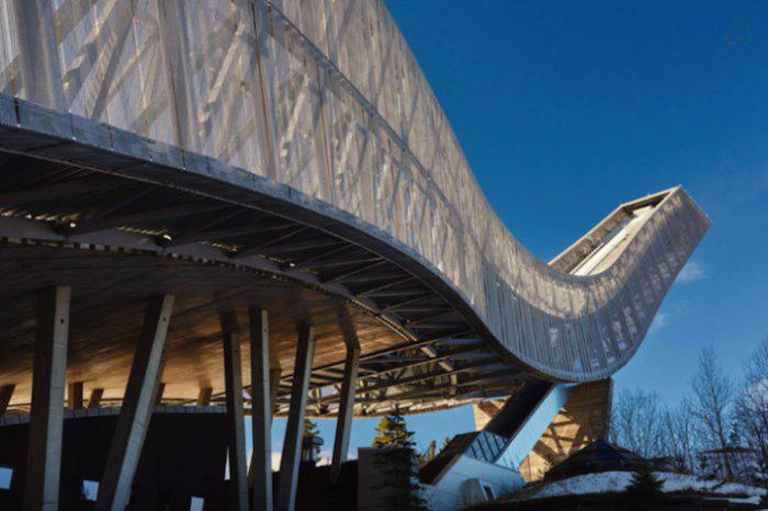 пентхаус на лыжном трамплине Холменколен 2 (700x466, 236Kb)