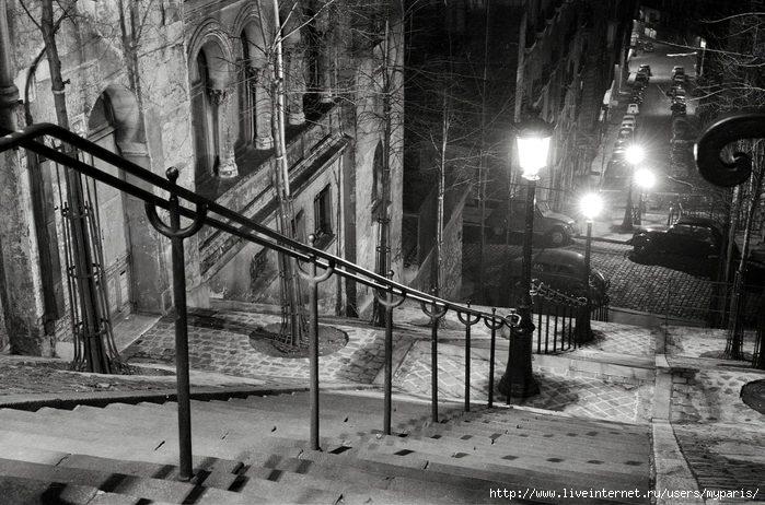 La rue Chappe, vers 1957 (700x462, 213Kb)