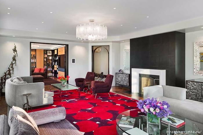 Дизайн интерьера одной квартиры в Нью-Йорке (2) (700x464, 225Kb)