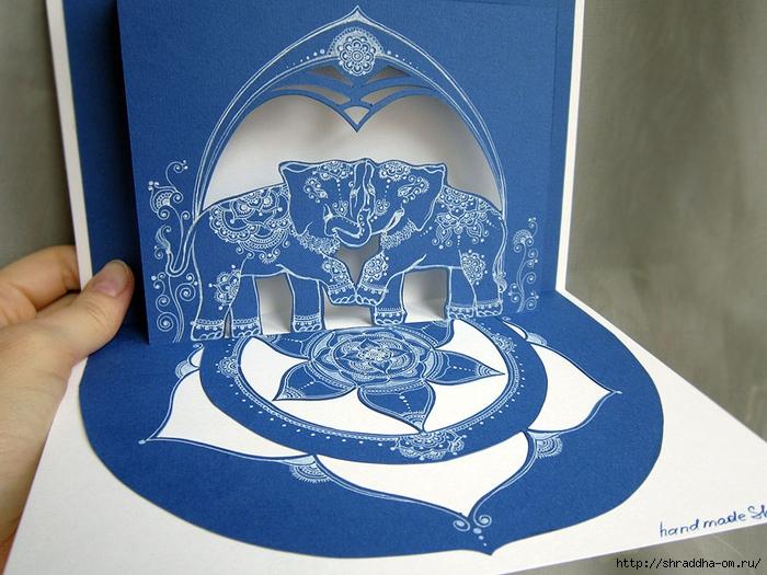 3D-открытка СЛОНЫ, автор Shraddha (1) (700x525, 301Kb)
