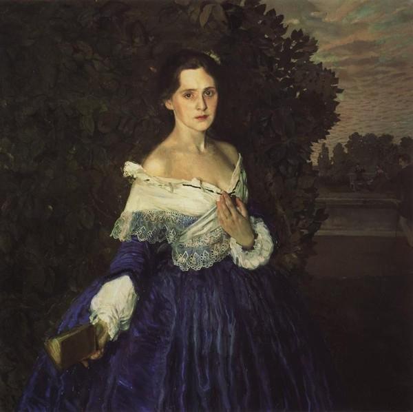 04 Дама в голубом (Портрет художницы Е.М.Мартыновой), 1897-1900, ГТГ (600x598, 206Kb)