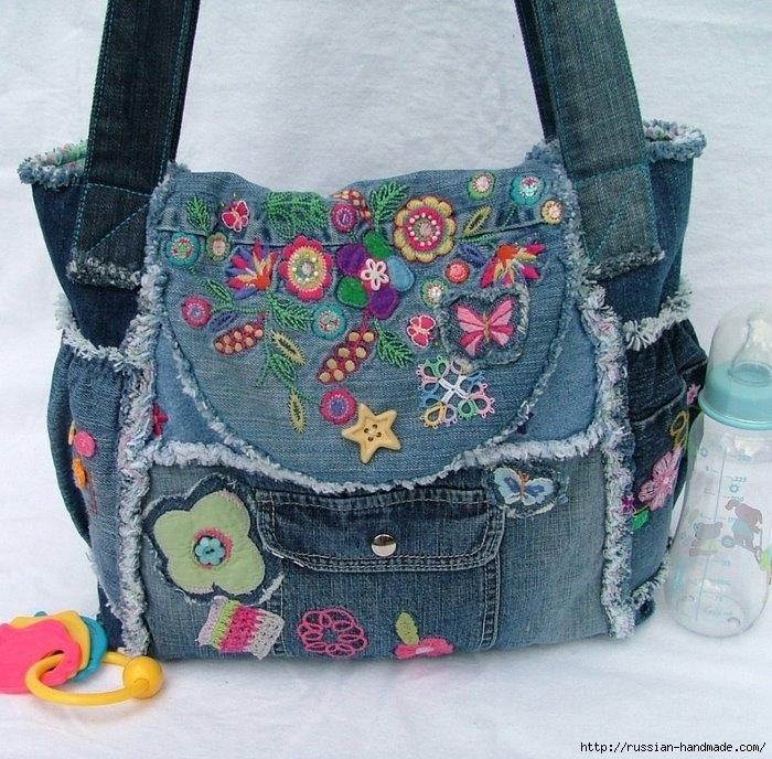 Модные сумки из старых джинсов (18) (700x688, 325Kb)