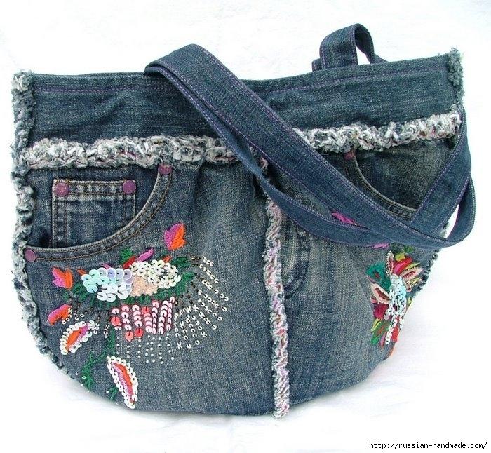 Модные сумки из старых джинсов (22) (700x646, 322Kb)
