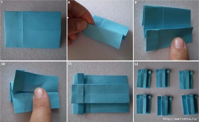 Бумажные цветы в горшочках в технике оригами (3) (694x426, 158Kb)