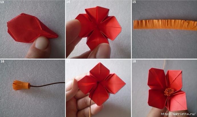 Бумажные цветы в горшочках в технике оригами (9) (691x411, 172Kb)