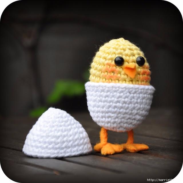 Вязание игрушки амигуруми. Желтый цыпленок в яйце (2) (640x638, 152Kb)
