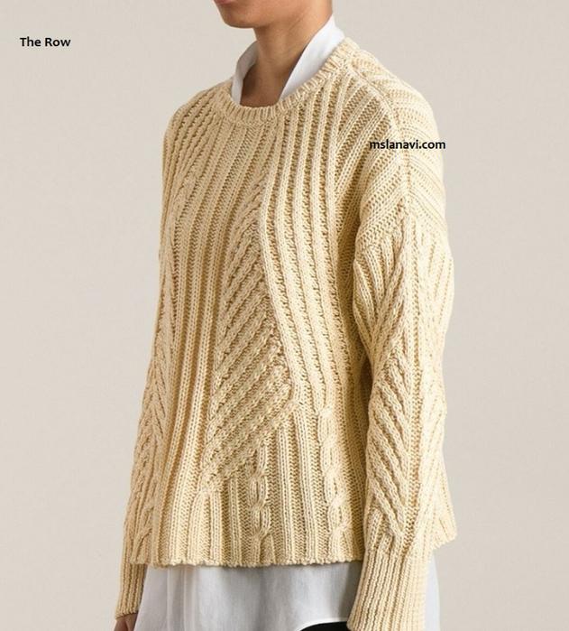 вязаный-пуловер-из-хлопка-от-The-Row (631x700, 349Kb)