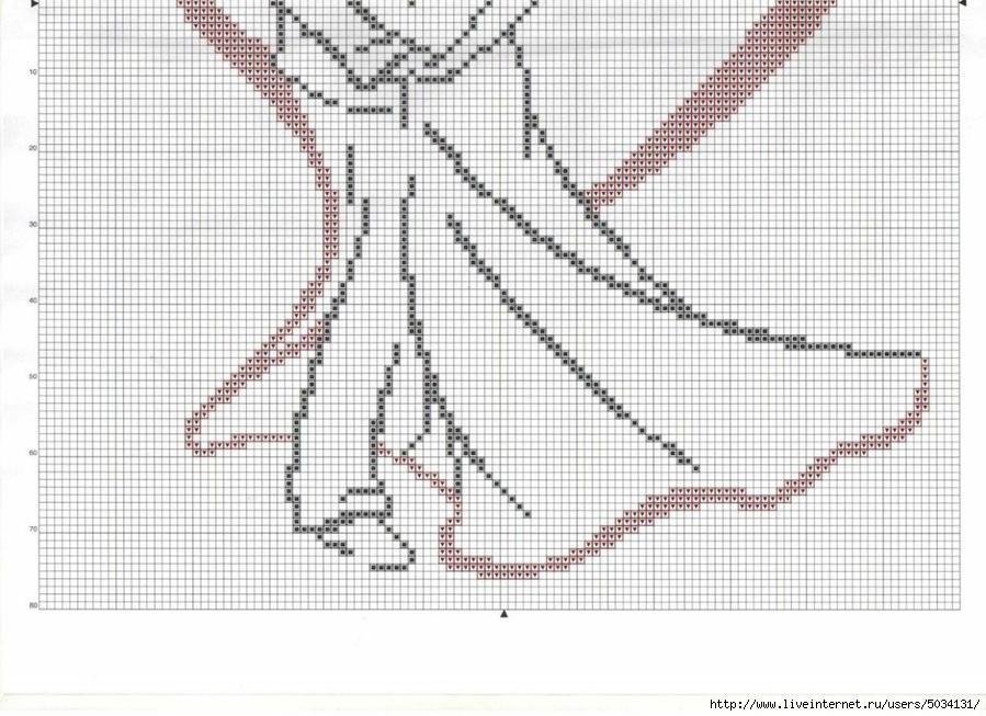 Вышивка крестом пара монохром схема 73