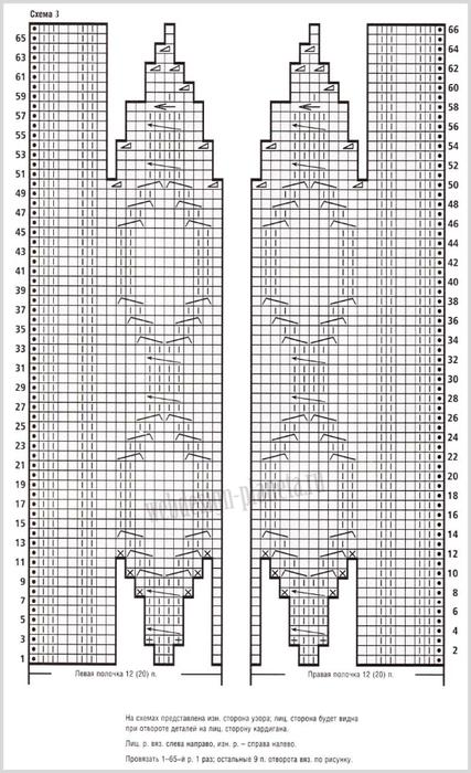 bezhevyj-vyazanyj-kardigan-spitsami-s-kosami-shema (427x700, 280Kb)