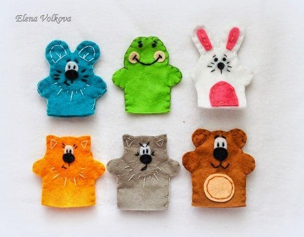 Выкройки игрушек пальчиковые