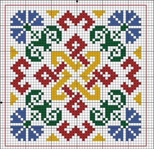 Вышивка квадрат сварога 98