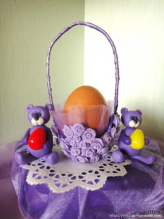 Подставка для пасхального яйца из яичного лотка (1) (524x700, 264Kb)